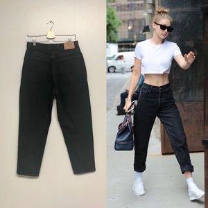 Vintage black high waist mom jeans
